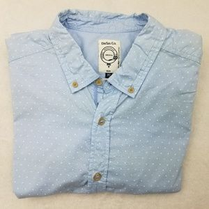 Diesel CO. Blue Slim Fit Button Front Shirt XL